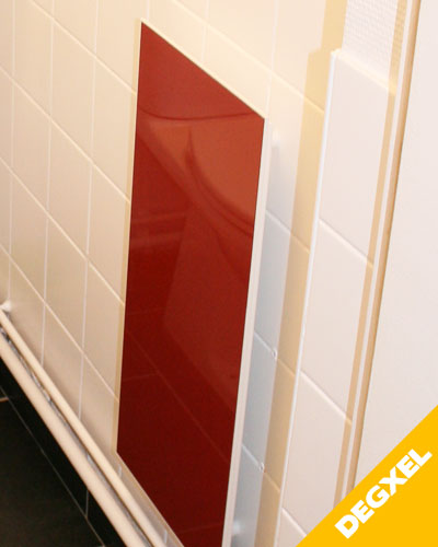 red glass infrared heater panel