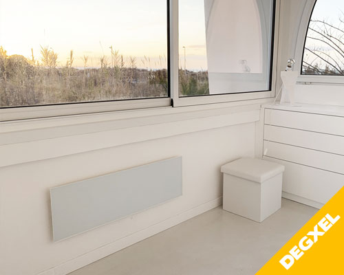 infrared white glass panel degxel