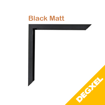 black matt frame for infrared heater