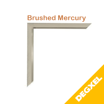 optional frame for brushed mercury