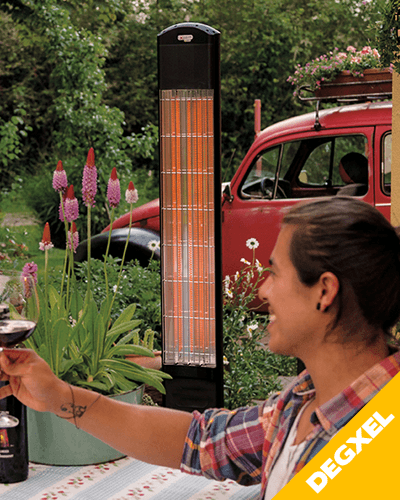 mobile outdoor infrared heater
