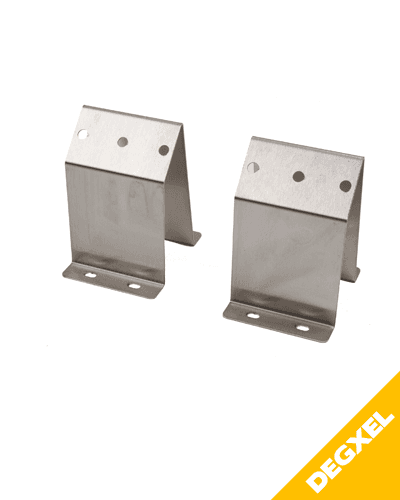 KIT OF 2 STAINLESS STEEL ANGLE BRACKETS FOR MOUNTING AT 45°