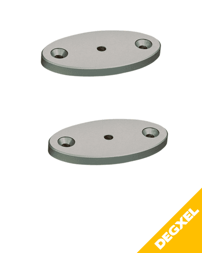 kit of 2 mounting plates