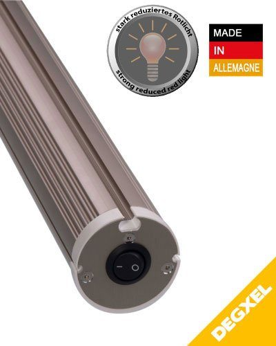 DEGXEL tubular 900 w Infrared heating for indoor or covered outdoor 900W